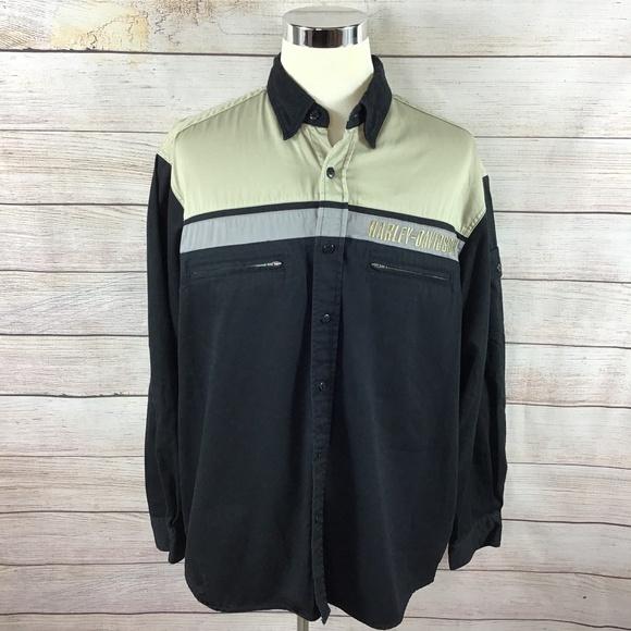 Harley-Davidson Other - Men's Harley Davidson HD Shirt Long Sleeve Large